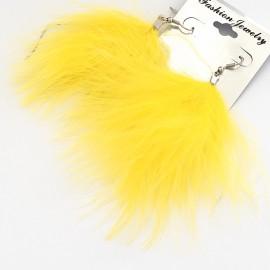 Серьги перья 10